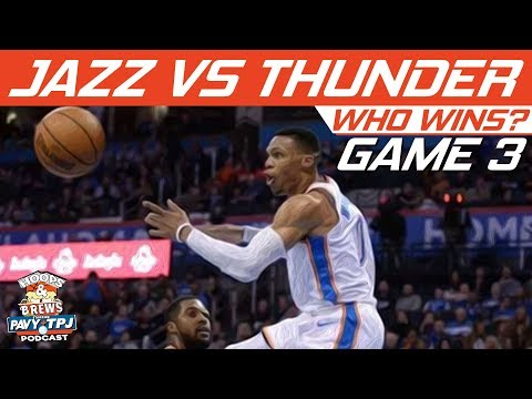 OKC Thunder vs Utah Jazz | Game 3 | Who will win ? | Hoops N Brews