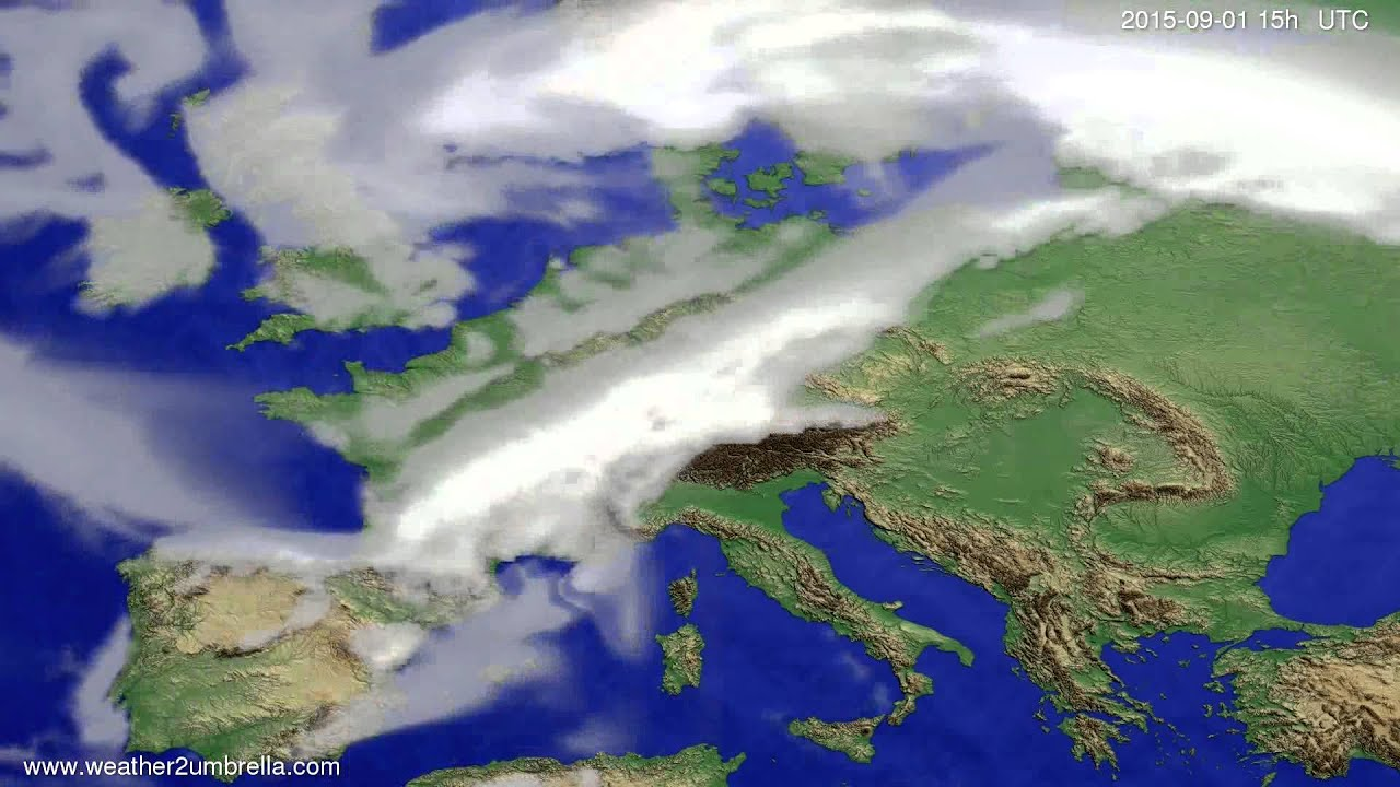Cloud forecast Europe 2015-08-29