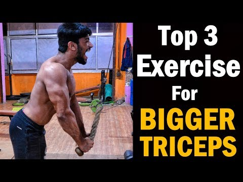 Fat burner - Top 3 BIG TRICEPS Exercise  How To Grow BIGGER TRICEPS Workout (Home/Gym)