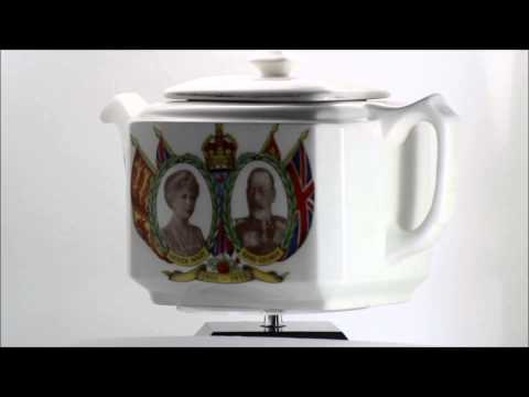 Collectable George V & Queen Mary Silver Jubilee, Maling Ware, Ringtons Commemorative Tea Pot
