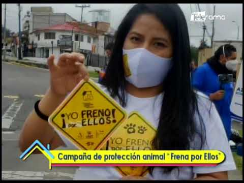 """Campaña de protección animal """"Frena por Ellos"""""""