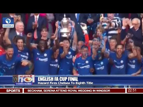 Hazard Fires Chelsea To Eight English FA Cap Title 19/05/18 Pt.4 |News@10| (видео)