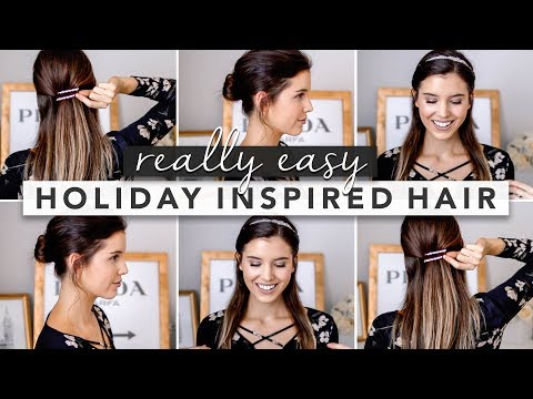 Easy hairstyles - Holiday Inspired Hairstyles: Perfect for Fine or Thin Hair  by Erin Elizabeth