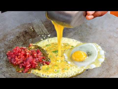Ramzan / Ramadan Special 3 Layer Cheese Egg Dish With Tadka | Egg Street Food | Indian Street Food