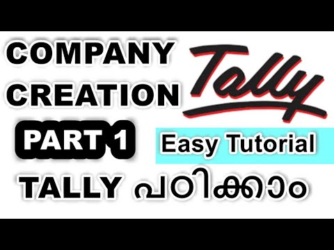 Tally ERP9 Tutorial in Malayalam | Company Creation Part I  | Accounting Software