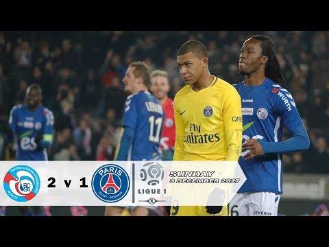 Strasbourg vs PSG 2-1 Ligue 1 - Akhirnya PSG Tumbang | All Goals & Highlight 03/12/2017