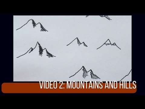 Drawing Mountains and Hills | Map Tutorial 2