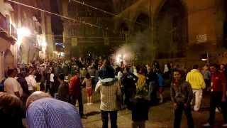 Alcaniz Spain  city images : Toro de Fuego in village fiestas of Alcañiz, Spain