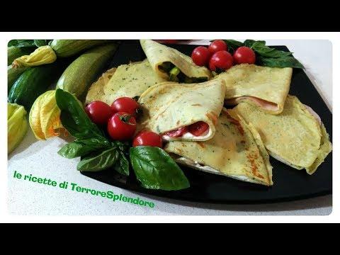 3 idee salate con crepes al basilico