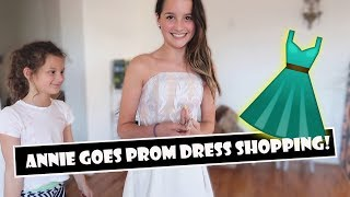 Annie Goes Prom Dress Shopping 👗 (WK 383.3) | Bratayley