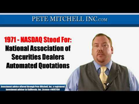 nasdaq - http://petemitchellinc.com Need to know what NASDAQ stands for? Pete Mitchell will answer that in this video.