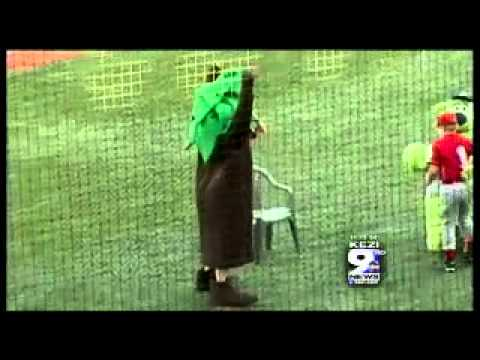 Ball Boy Kicks Mascot In The Junk
