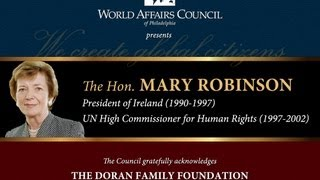 The World Affairs Council Presents The Hon. Mary Robinson