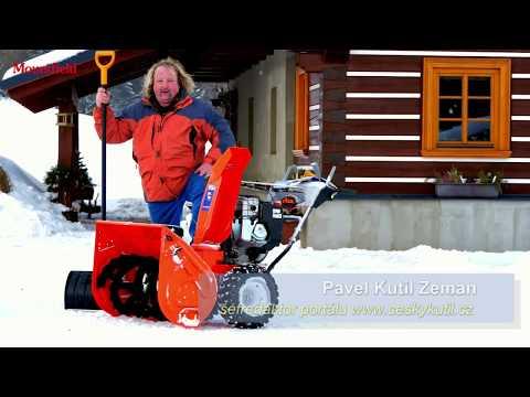 Sněhová fréza Ariens Pro 32 a videotest Českého Kutila