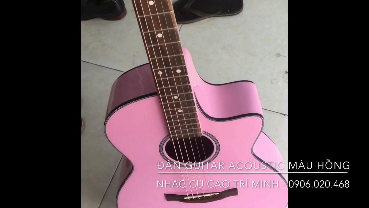 [Guitar] Sản phẩm Đàn guitar Acoustic màu hồng 950.000 đ