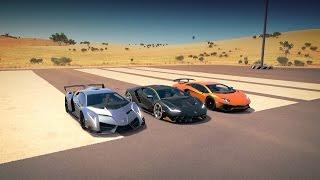2016 Lamborghini Centenario LP 770-4 vs 2013 Lamborghini Veneno vs 2016 Lamborghini Aventador LP750-4 SV...
