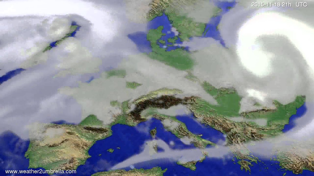Cloud forecast Europe 2015-11-15