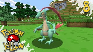 Pixelmon YELLOW!  - First Boss And Big Derp! - Ep08 (Minecraft Pokemon Mod)