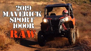 7. 2019 Can Am Maverick Sport 1000R Test Drive Action Raw