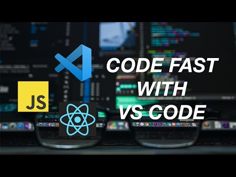 How to write Javascript and React with VS Code FASTER! (using code snippets)