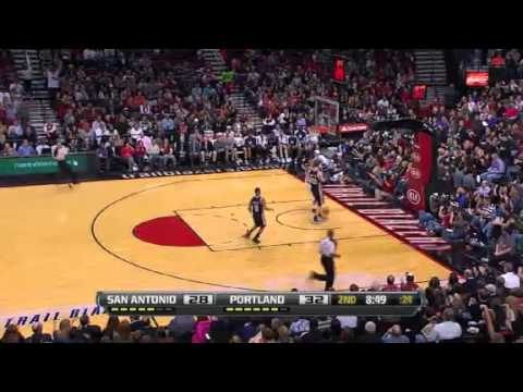 Damian Lillard steals and dunks on Spurs