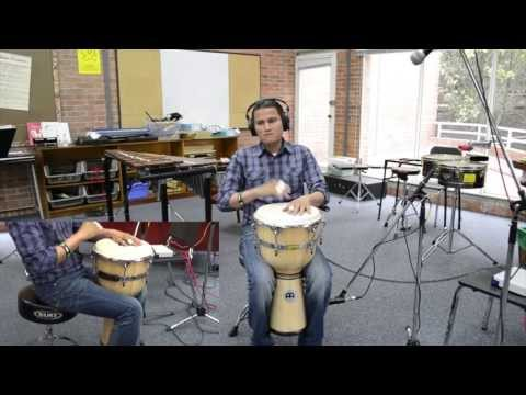 Cover The Lazy Song- Djembe