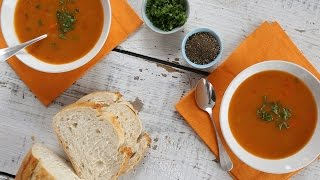 Spicy Carrot & Leek Soup- Everyday Food with Sarah Carey by Everyday Food