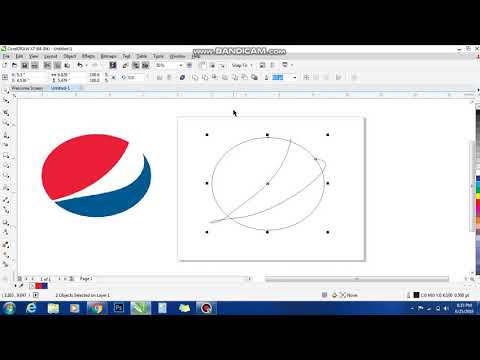 How To Make Pepsi Logo Corel Draw..... (TUTORIAL)!!!!!!EASY!!!!!