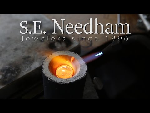 Custom Engagement Ring - From Start to Finish - Casting