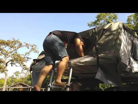 แกะรอยเที่ยว แนะนำวิธีกางเต็นท์ ACAMP Roof Top Tent 2 1