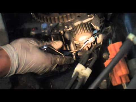 how to change timing belt acura rl