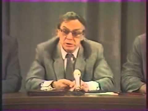 1-й День ГКЧП,  пресс-конференция Г.Янаева. Последние дни жизни СССР,  1991, август, кинохроника (видео)