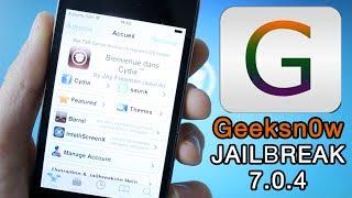 Tutoriel De Jailbreak Pour IOS 7 Avec GeekSn0w - IOS 7.0, 7.0.2, 7.0.3, 7.0.4