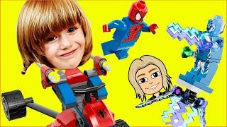 SPiderman LEGO Marvel | Superheroes Ultimate Spider-Man Toy Story | Frozen Toys LEGO Marvel (Comp)