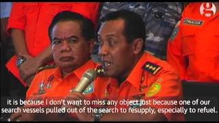 Divers recover more bodies from AirAsia flight QZ8501. The bodies are taken to Indonesian navy ships before being transferred back to the mainland. At Pangkalan Bun military base eight bodies arrive on US helicopters before being flown to Surabaya for identification