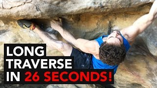 Climber sends Overhang 35ft of traverse under 30 seconds!! by  rockentry