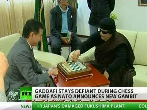 Gaddafi's chess boss battle: Colonel vows to stay till endgame