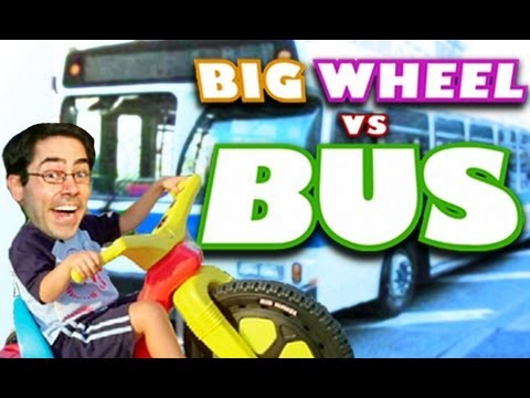 Big Wheel vs Bus - Subscribe to Mark: http://www.youtube.com/markmalkoff More: http://www.mydamnchannel.com Follow us on Twitter: http://www.twitter.com/mydamnchannel Like us o...