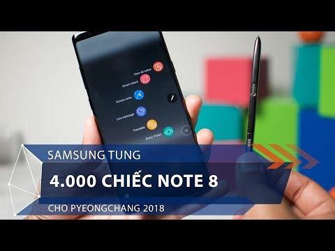 Samsung tung 4.000 chiếc Note 8 cho Pyeongchang 2018 | VTC1 - Thời lượng: 39 giây.