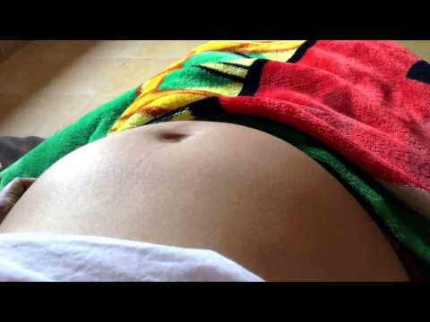 Baby dances inside mother's pregnant belly