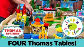 Thomas Train GIVEAWAY and FOUR TABLE TRACK CHALLENGE! Thomas and Friends   Fun Toy Trains for Kids!