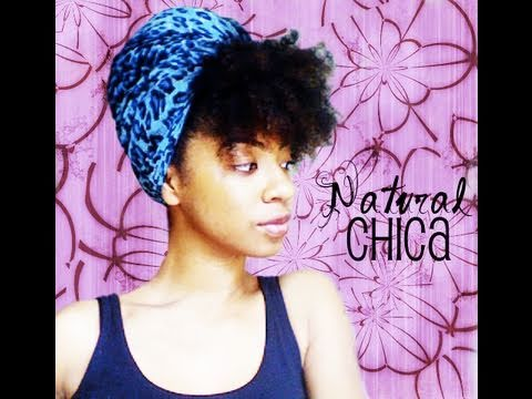 Natural Hair Turban Style! : QUICK NATURAL HAIR STYLE