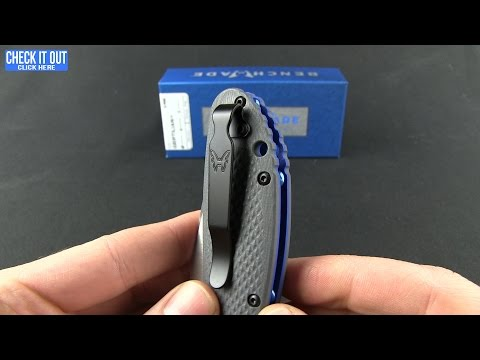 "Benchmade Griptilian AXIS Lock Knife Gray/Blue G-10 (3.45"" Satin) 551-1"