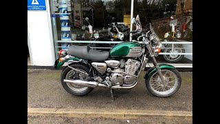 8. TRIUMPH THUNDERBIRD 900 1996 GREEN TRIUMPH SPORTS EXHAUST START UP AND REVIEW