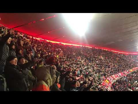 "Liverpool Fans Sing ""You'll Never Walk Alone"" In Allianz Arena After Beating Bayern Munich"