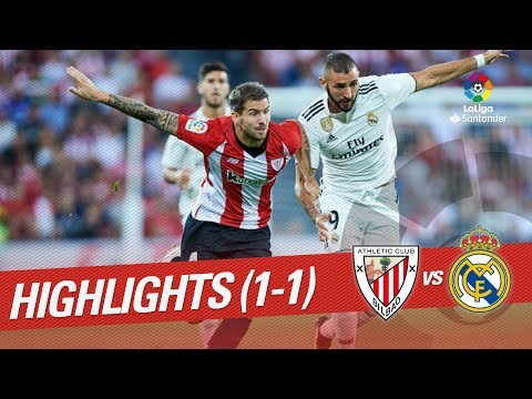 Resumen de Athletic Club vs Real Madrid (1-1)