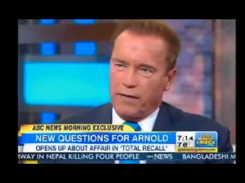 Arnold Schwarzenegger talks Affair and Total Recall book on Good Morning America