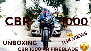 9. Unboxing Honda CBR1000RR Fireblade  2018 Edition India