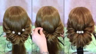 прически к свадьбе на длинные волосы