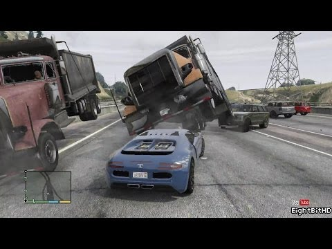 GTA 5 100 Tons Super Car Rampage #4 HD Grand Theft Auto 5